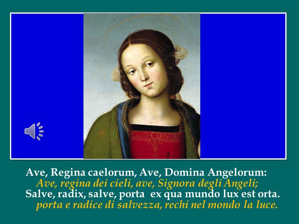 Affidiamo la nostra preghiera all'intercessione di Maria, Regina di Tutti i Santi.