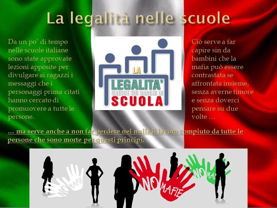 Da un po' di tempo nelle scuole italiane sono state approvate lezioni apposite per divulgare ai ragazzi i messaggi che i personaggi prima citati hanno cercato di promuovere a tutte le persone.
