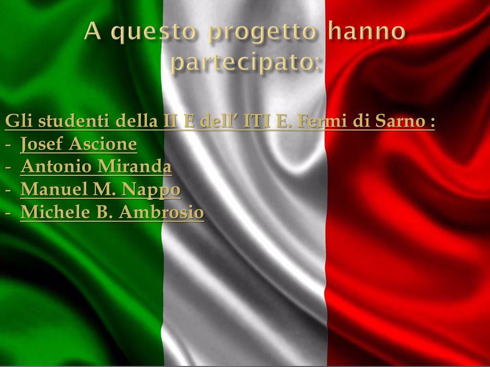 Gli studenti della II E dell' ITI E.Fermi di Sarno : - Josef Ascione - Antonio Miranda - Manuel M.
