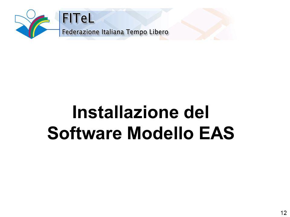 12 Installazione del Software Modello EAS