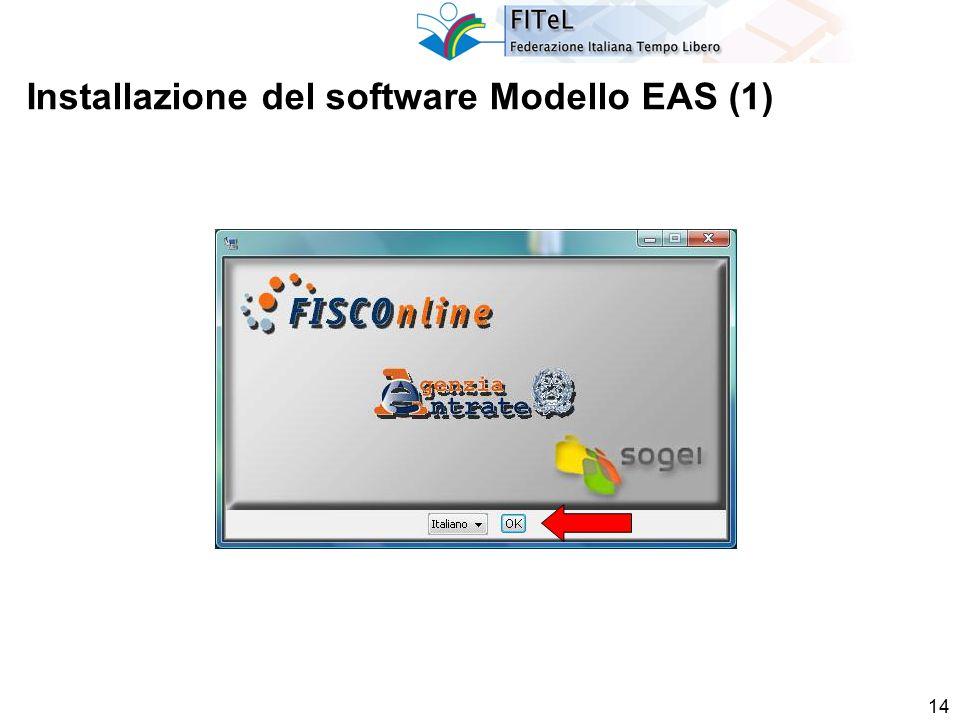 14 Installazione del software Modello EAS (1)
