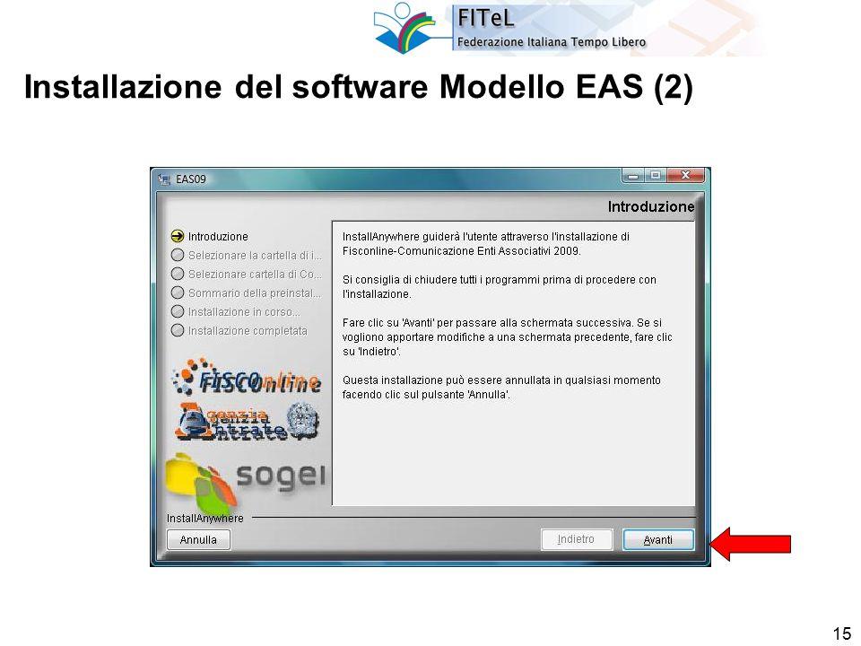 15 Installazione del software Modello EAS (2)