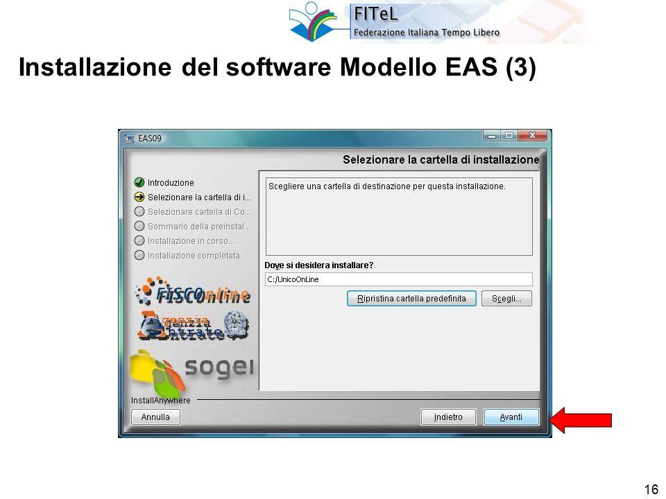 16 Installazione del software Modello EAS (3)