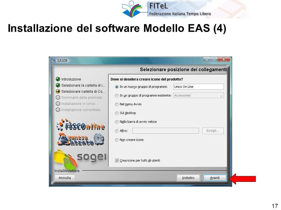 17 Installazione del software Modello EAS (4)