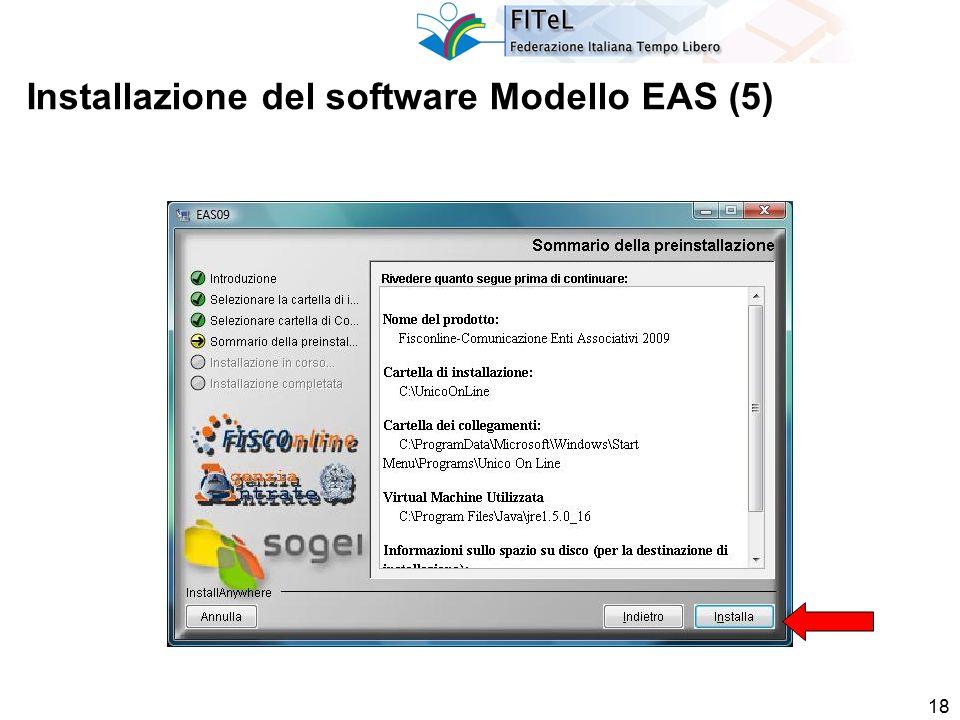 18 Installazione del software Modello EAS (5)