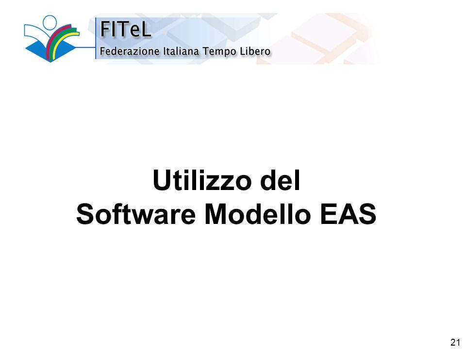 21 Utilizzo del Software Modello EAS