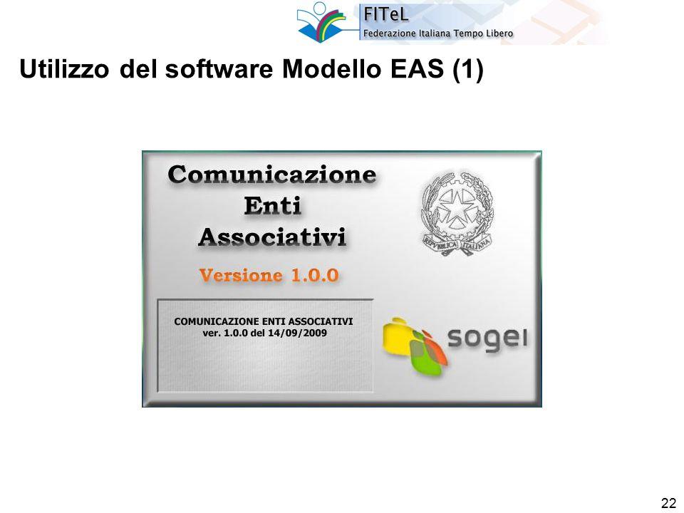 22 Utilizzo del software Modello EAS (1)
