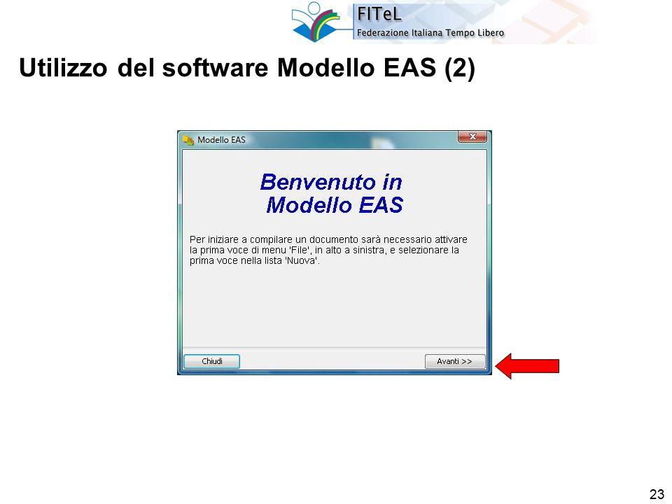 23 Utilizzo del software Modello EAS (2)