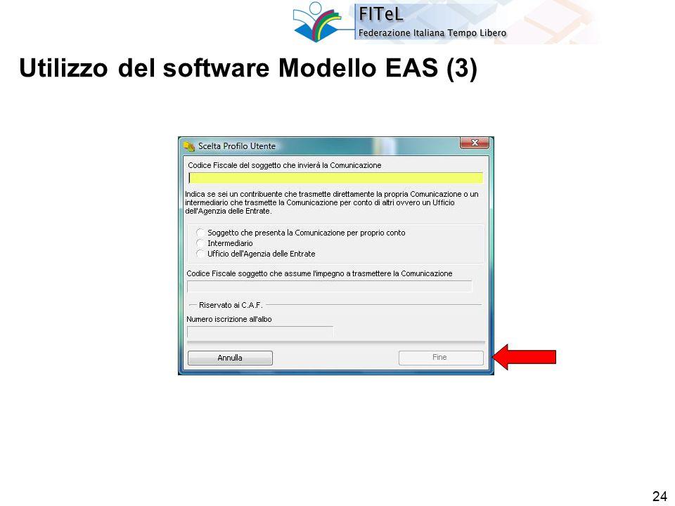 24 Utilizzo del software Modello EAS (3)