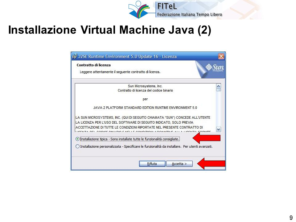 9 Installazione Virtual Machine Java (2)
