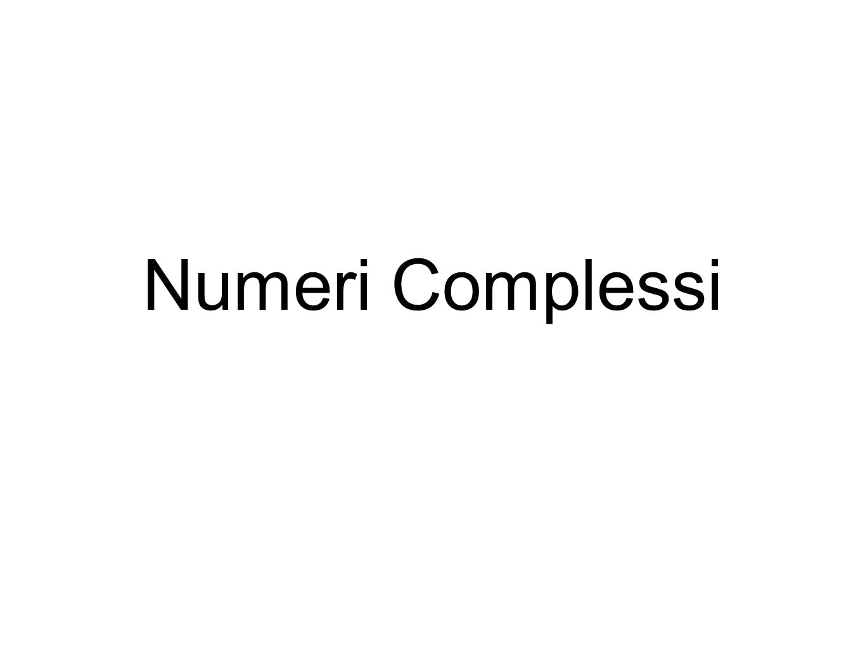 1234 i 2i 3i -i -2i -2 4+2i Numeri complessi Piano complesso o piano di Argand-Gauss Karl Friederich Gauss, (Braunschweig, 1777 – Gottinga,1855) Jean-Robert Argand (Ginevra 1768 – Parigi, 1822)GinevraPari2)