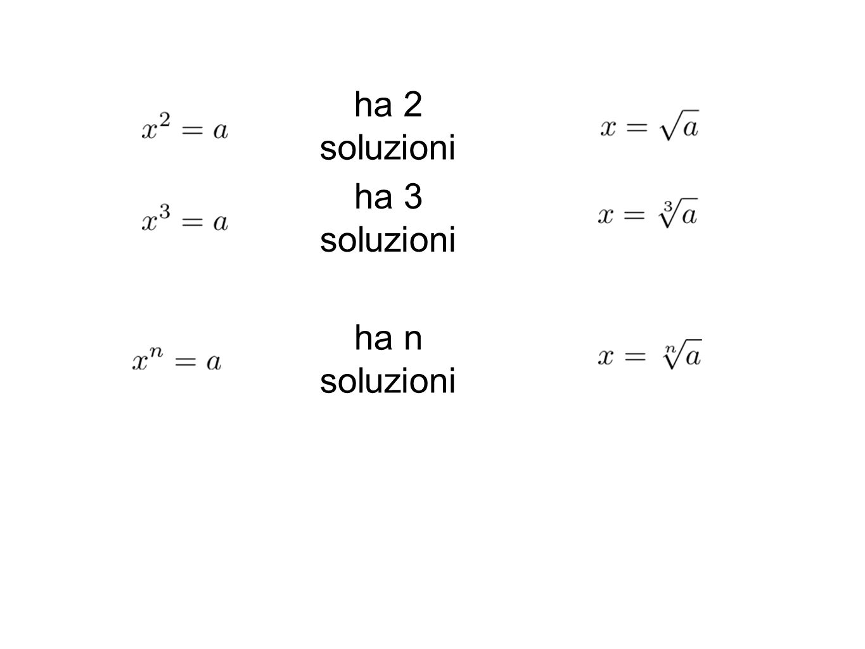 ha 2 soluzioni ha 3 soluzioni ha n soluzioni