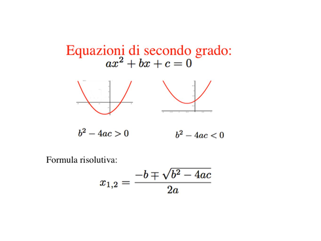 Problema: Cardano, Ars Magna cap.XXXVII, (1545) Dividi 10 in due parti il cui prodotto è 40 Girolamo Cardano (Pavia, 24 settembre 1501 – Roma, 21 settembre 1576?)