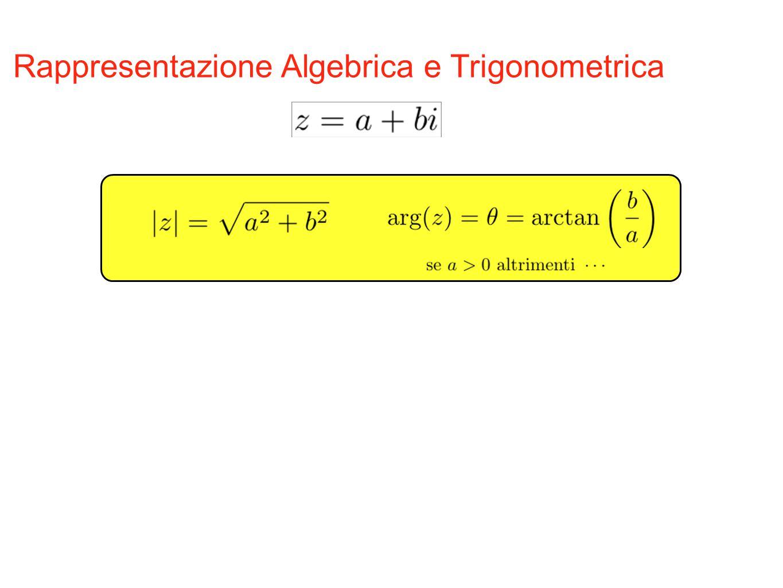 Rappresentazione Algebrica e Trigonometrica