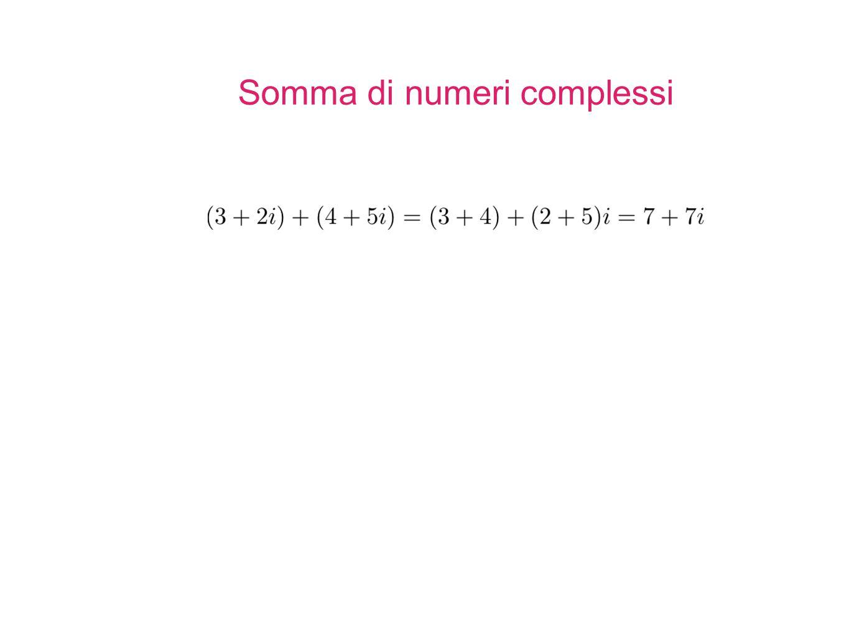 Somma di numeri complessi