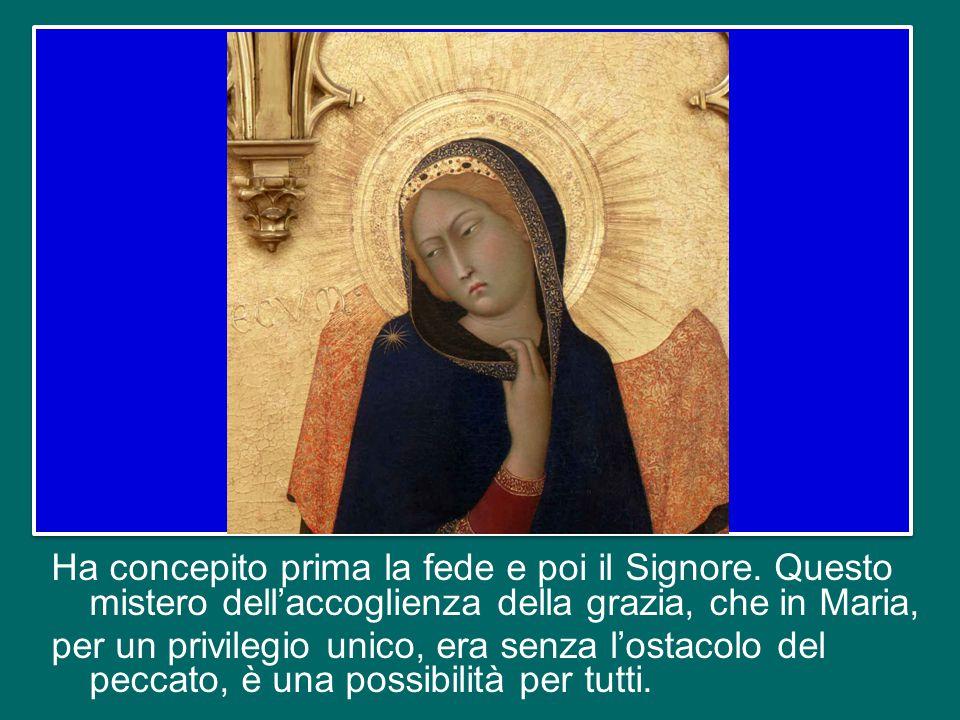 E' Lui che fa in noi tante meraviglie. Maria è ricettiva, ma non passiva. Come, a livello fisico, riceve la potenza dello Spirito Santo ma poi dona ca
