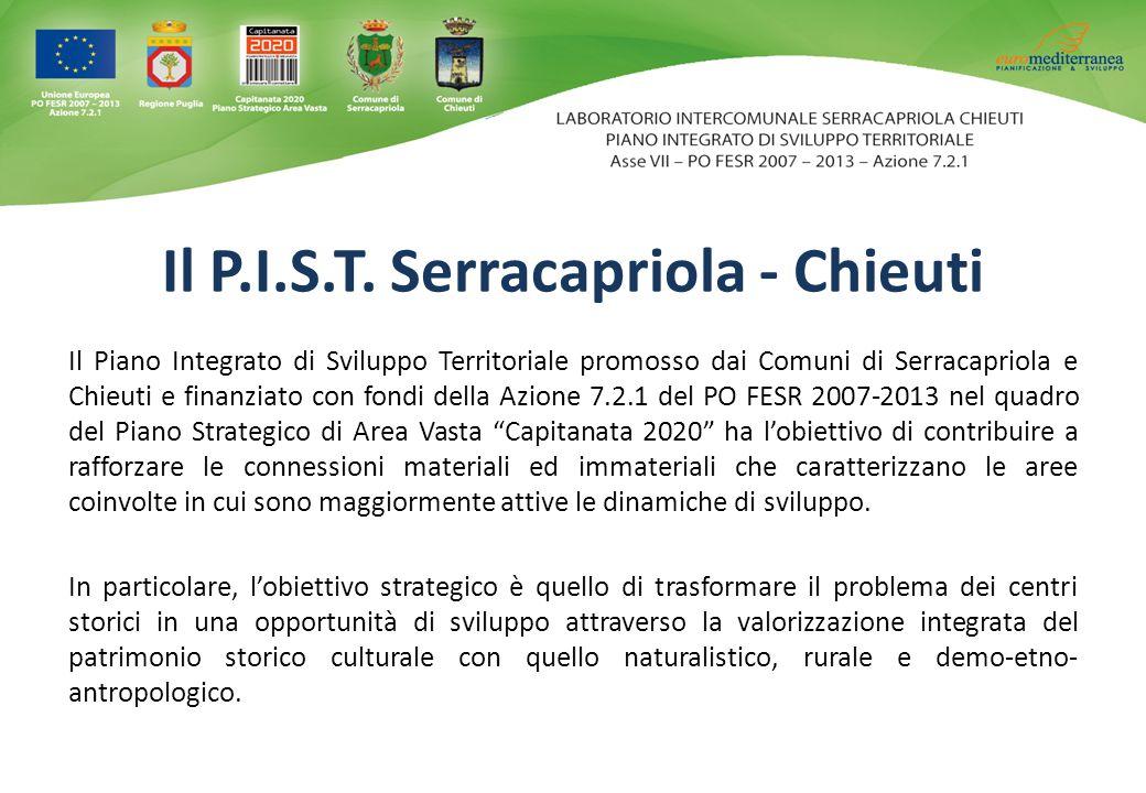 Il Piano Integrato di Sviluppo Territoriale promosso dai Comuni di Serracapriola e Chieuti e finanziato con fondi della Azione 7.2.1 del PO FESR 2007-
