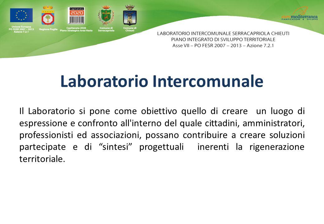 Il Laboratorio si pone come obiettivo quello di creare un luogo di espressione e confronto all'interno del quale cittadini, amministratori, profession
