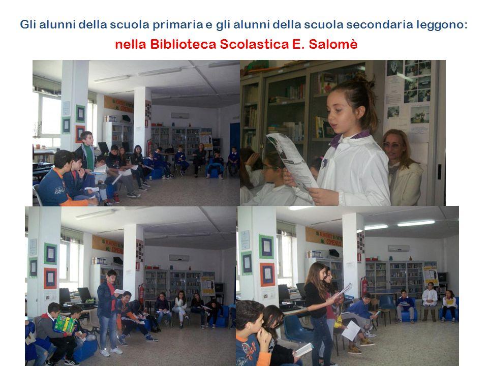 Gli alunni della scuola primaria e gli alunni della scuola secondaria leggono: nella Biblioteca Scolastica E.