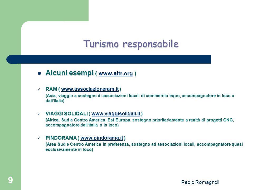Paolo Romagnoli 10 Servizio Civile Volontario Alcuni esempi ( www.serviziocivile.it ) Alcuni esempi ( www.serviziocivile.it ) www.serviziocivile.it Progetto caschi Bianchi: Progetto caschi Bianchi: Volontari nel mondo – FOCSIV ( www.focsiv.it ) Volontari nel mondo – FOCSIV ( www.focsiv.it )www.focsiv.it (Progetto comune Italia e estero per 61 ONG.
