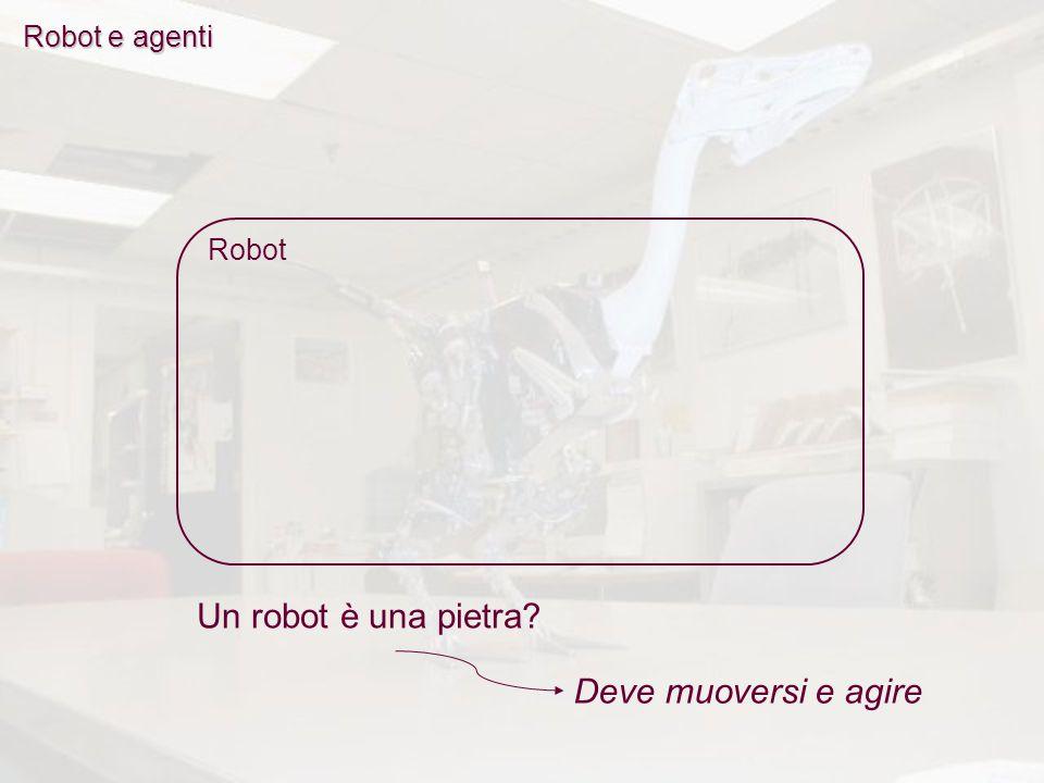 Robot Un robot è una pietra Deve muoversi e agire