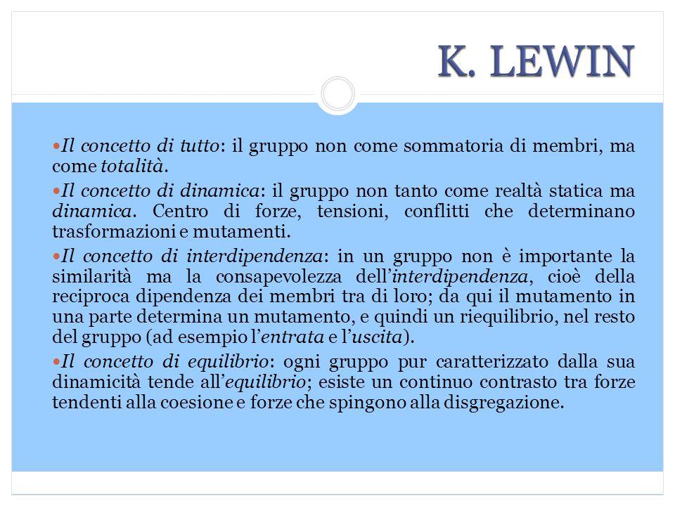 Il concetto di tutto: il gruppo non come sommatoria di membri, ma come totalità.