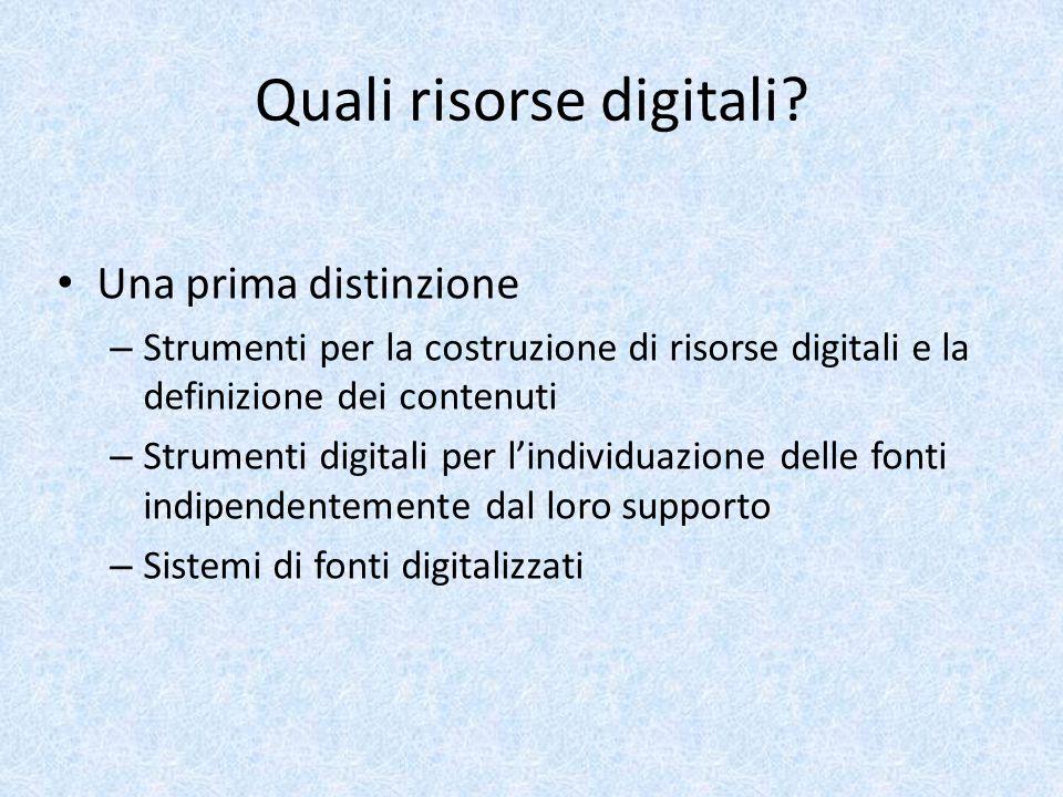 Quali risorse digitali.
