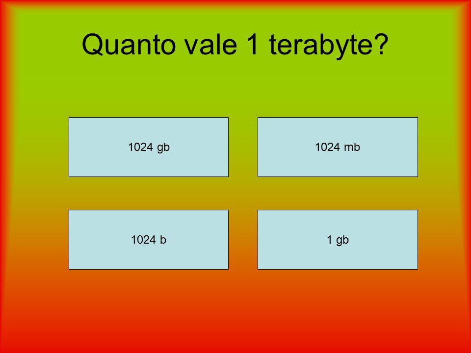 Quanto vale 1 terabyte? 1024 gb 1024 b1 gb 1024 mb