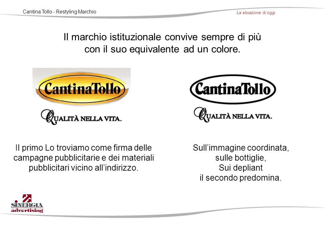 Cantina Tollo - Restyling Marchio Il percorso seguito nel restyling del marchio, ha cercato di seguire questa tendenza, interpretando quasi un cammino, pur non dichiarato, verso la leggerezza e la semplicità.