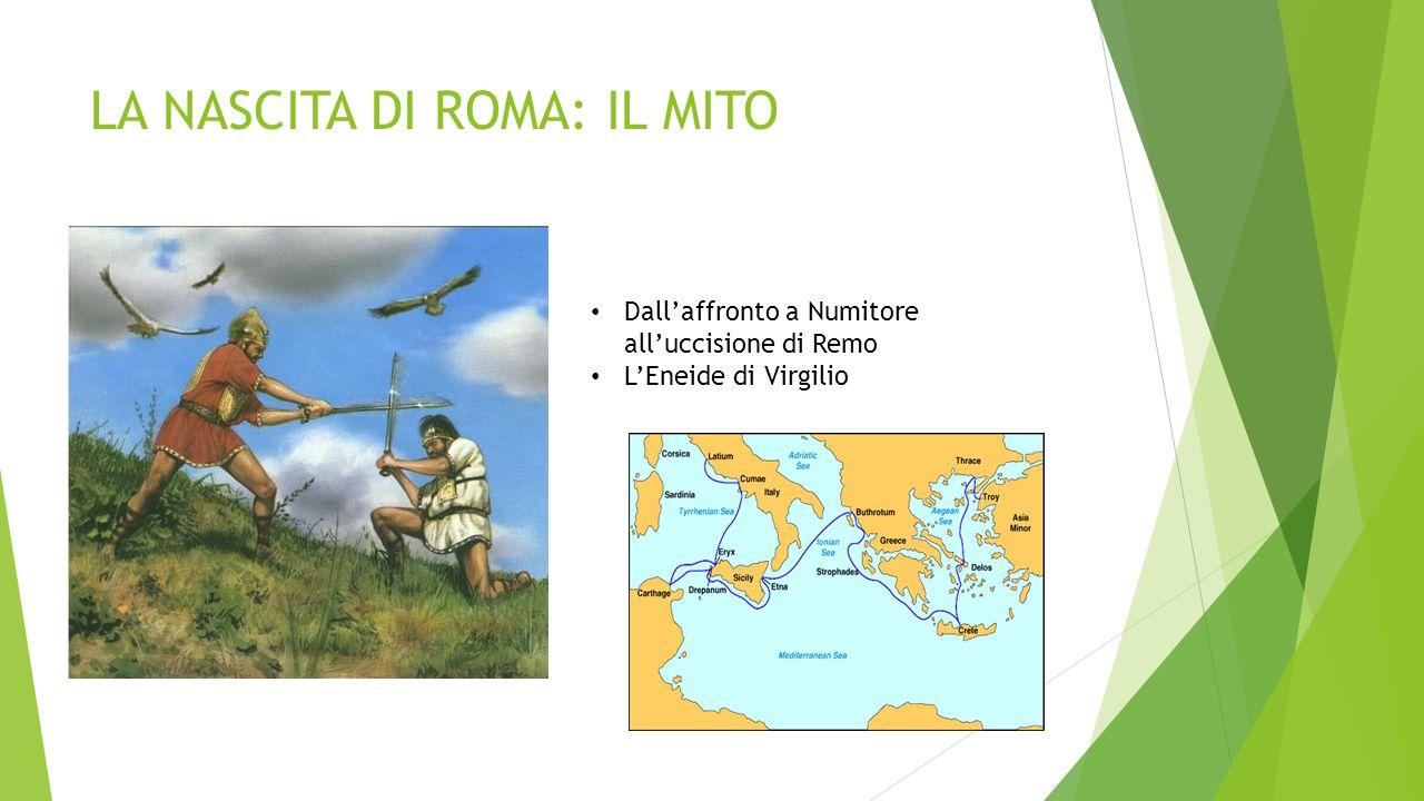 LA NASCITA DI ROMA: LA STORIA Una felice posizione geografica: l'isola Tiberina, le vicine saline, la posizione collinare distante dalle paludi del Tevere Crocevia di incontro di popolazioni e traffici commerciali: il foro Boario