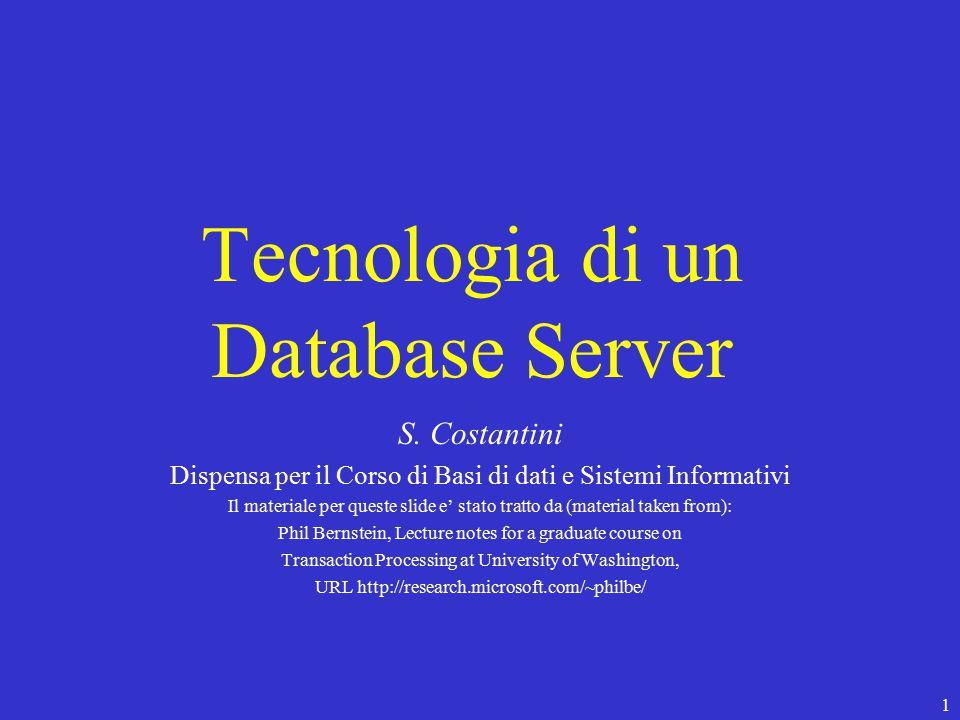 1 Tecnologia di un Database Server S.