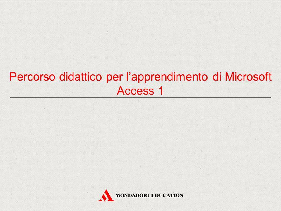 Percorso didattico per l'apprendimento di Microsoft Access 1