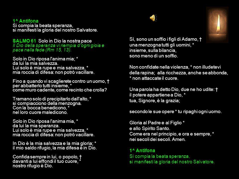 21 GENNAIO 2015 MERCOLEDÌ - II SETTIMANA DEL TEMPO ORDINARIO SANT AGNESE vergine e martire VESPRI V.
