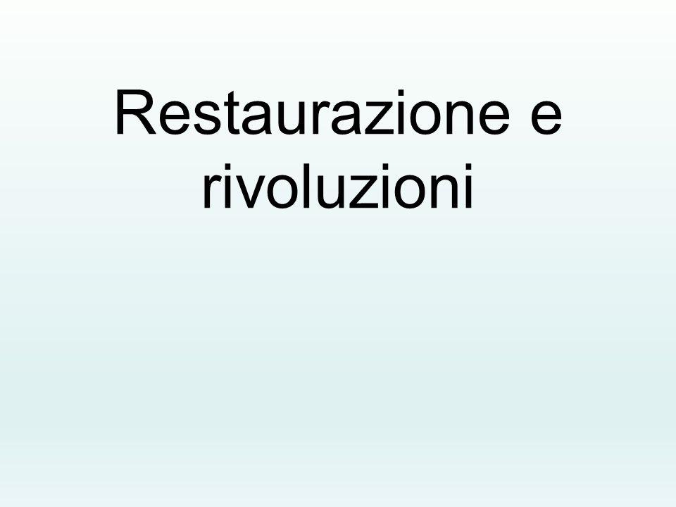 Restaurazione e rivoluzioni