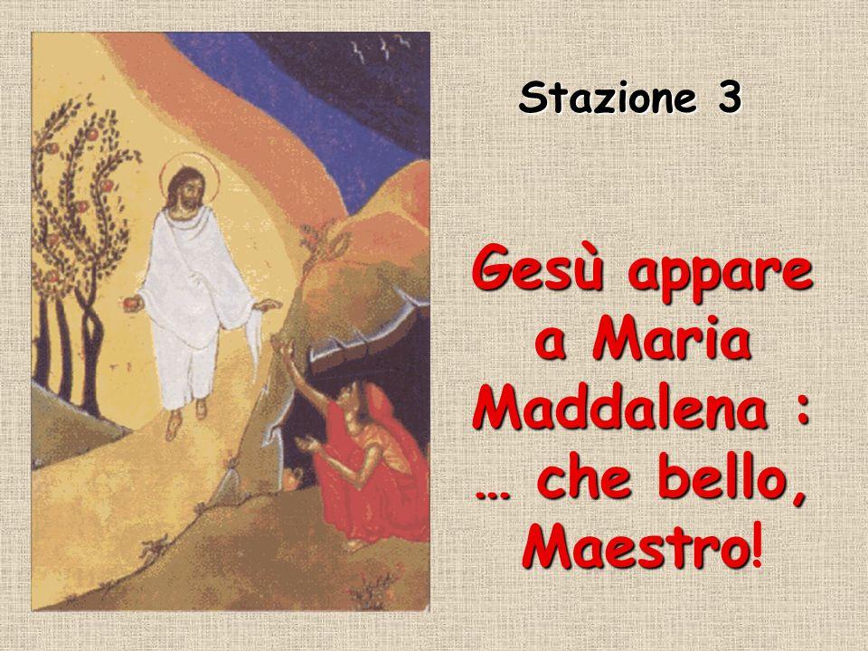 Gesù appare a Maria Maddalena : … che bello, Maestro Gesù appare a Maria Maddalena : … che bello, Maestro.