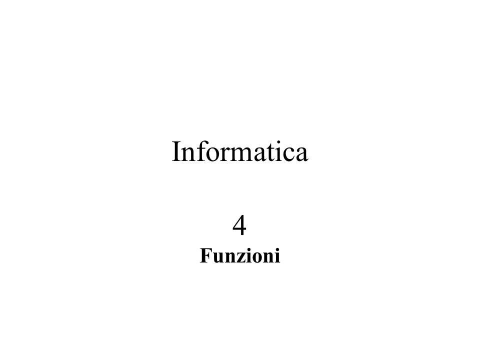 Informatica 4 Funzioni