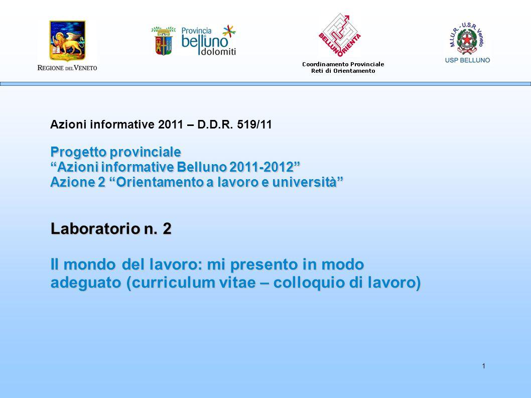 1 Azioni informative 2011 – D.D.R.