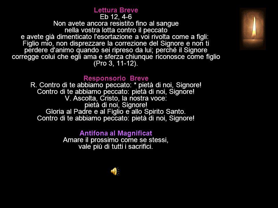 3^ Antifona Tutte le genti verranno ad adorarti, Signore. CANTICO Ap 15, 3-4 Inno di adorazione e di lode Grandi e mirabili sono le tue opere, † o Sig