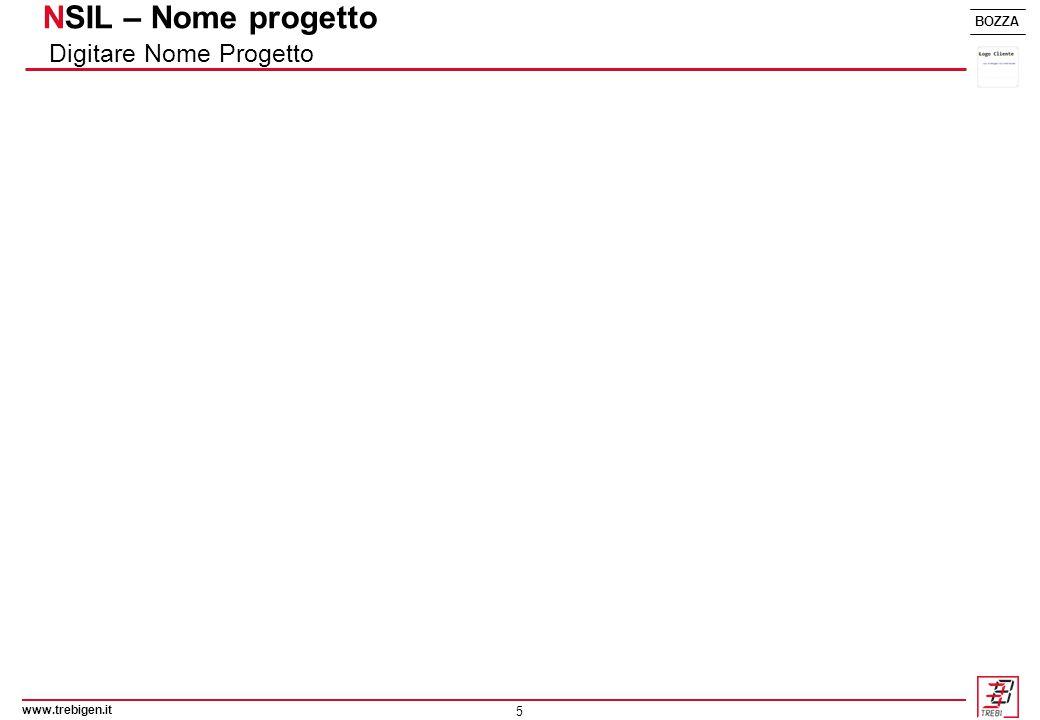 5 BOZZA NSIL – Nome progetto Digitare Nome Progetto www.trebigen.it