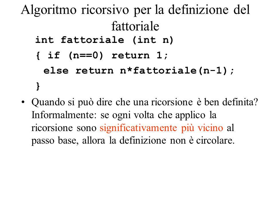 Esempio di traccia Calcoliamo il fattoriale di 4: 4=0.