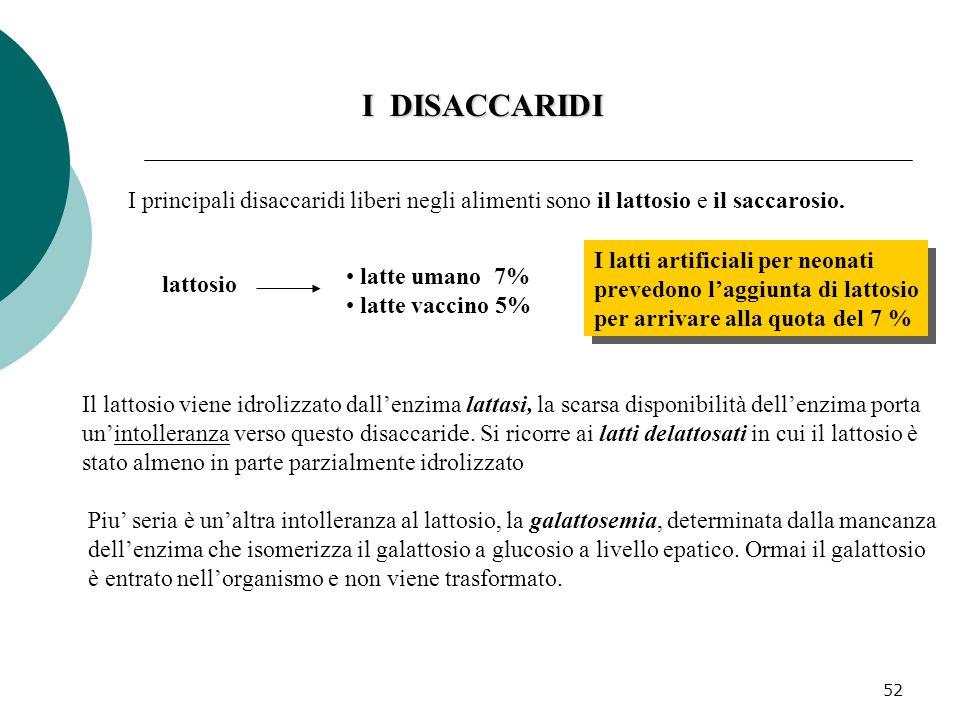 53 I DISACCARIDI Il saccarosio è il normale zucchero commerciale che si ottiene dalle barbabietole e dalle canne da zucchero.