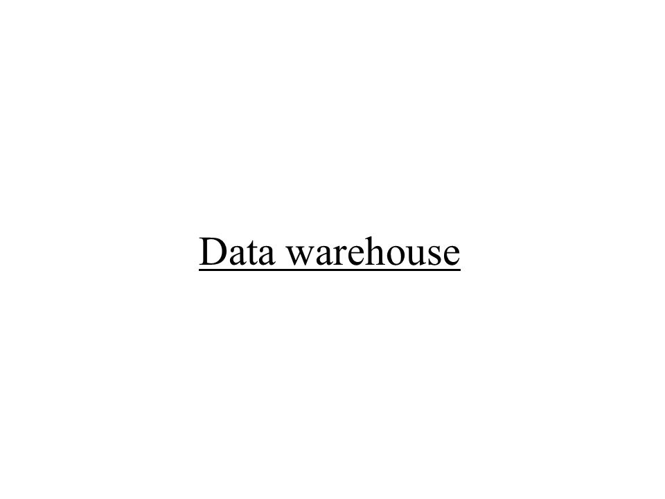 QUERY E REPORTING Strumenti DATA RETRIEVAL OLAP DATA MINING Data warehouse