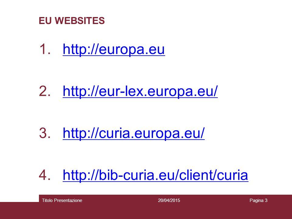 20/04/2015Titolo PresentazionePagina 14 FALLIMENTO DEL PROGETTO DI COSTITUZIONE  Gli anni immediatamente successivi al Trattato di Nizza sono stati dedicati ai lavori per la redazione di un nuovo trattato che aveva l'ambizione di rappresentare una Costituzione per l'Europa (un testo dall'impianto del tutto nuovo che avrebbe rimpiazzato integralmente i trattati esistenti)  Il Trattato che adotta una Costituzione per l'Europa viene firmato a Roma il 29 ottobre 2004 ma non entrerà mai in vigore a causa dei due referendum negativi che ne bloccano la ratifica in Francia e nei Paesi Bassi