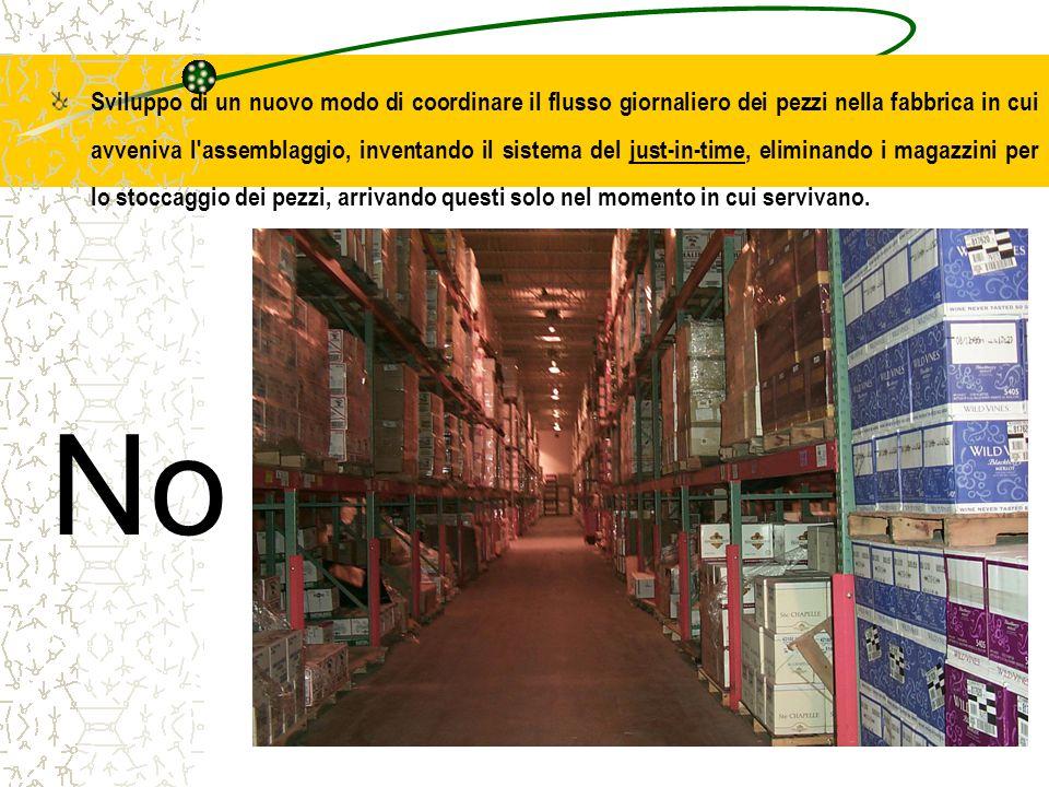 Prof. Carmelo Maria Porto7 Sviluppo di un nuovo modo di coordinare il flusso giornaliero dei pezzi nella fabbrica in cui avveniva l'assemblaggio, inve