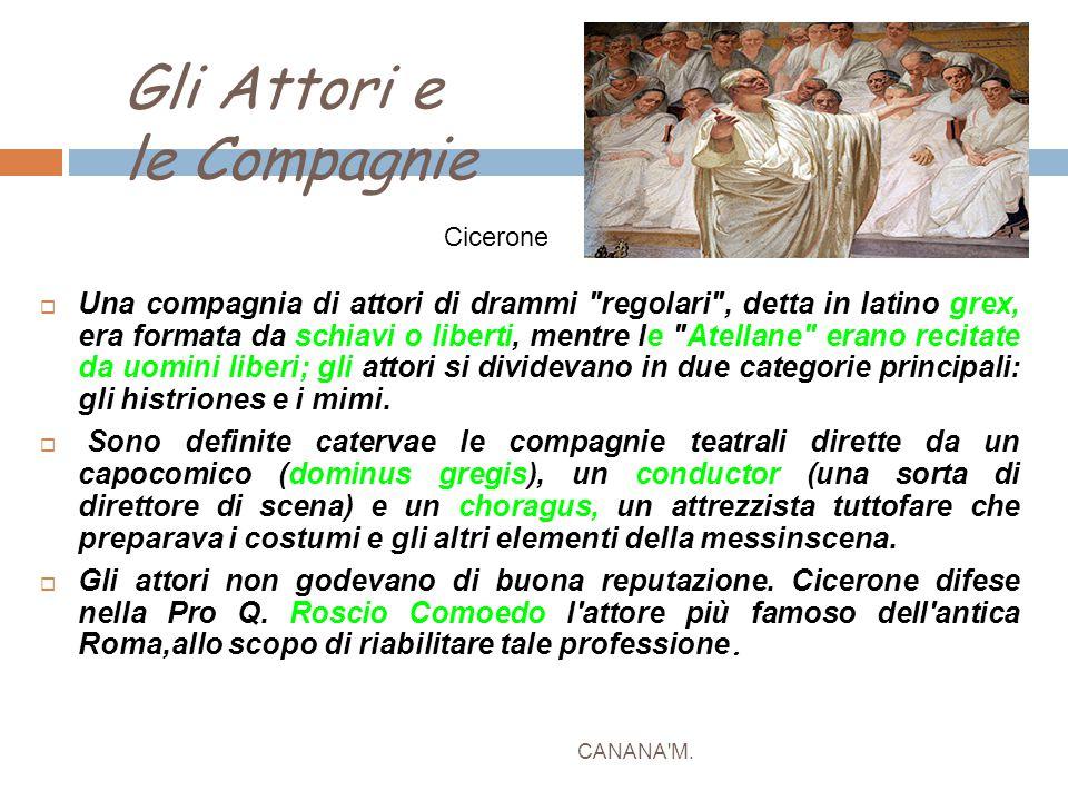 Gli Attori e le Compagnie CANANA'M.  Una compagnia di attori di drammi