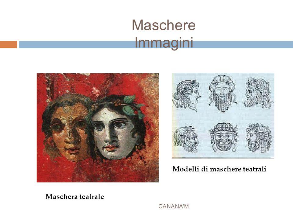 Maschere Immagini CANANA'M. Modelli di maschere teatrali Maschera teatrale