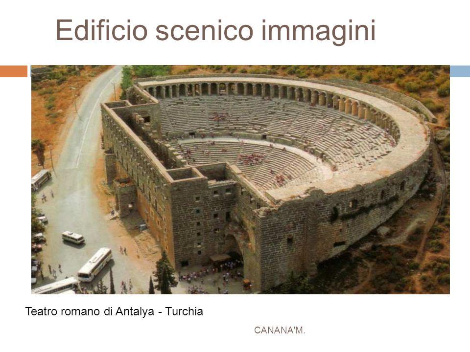 Edificio scenico immagini CANANA'M. Teatro romano di Antalya - Turchia