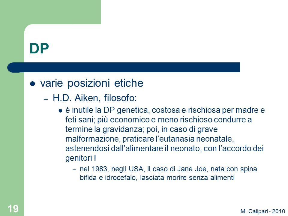 M.Calipari - 2010 19 DP varie posizioni etiche – H.D.