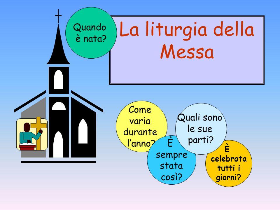 Come varia durante l'anno? È celebrata tutti i giorni? È sempre stata così? Quali sono le sue parti? La liturgia della Messa Quando è nata?