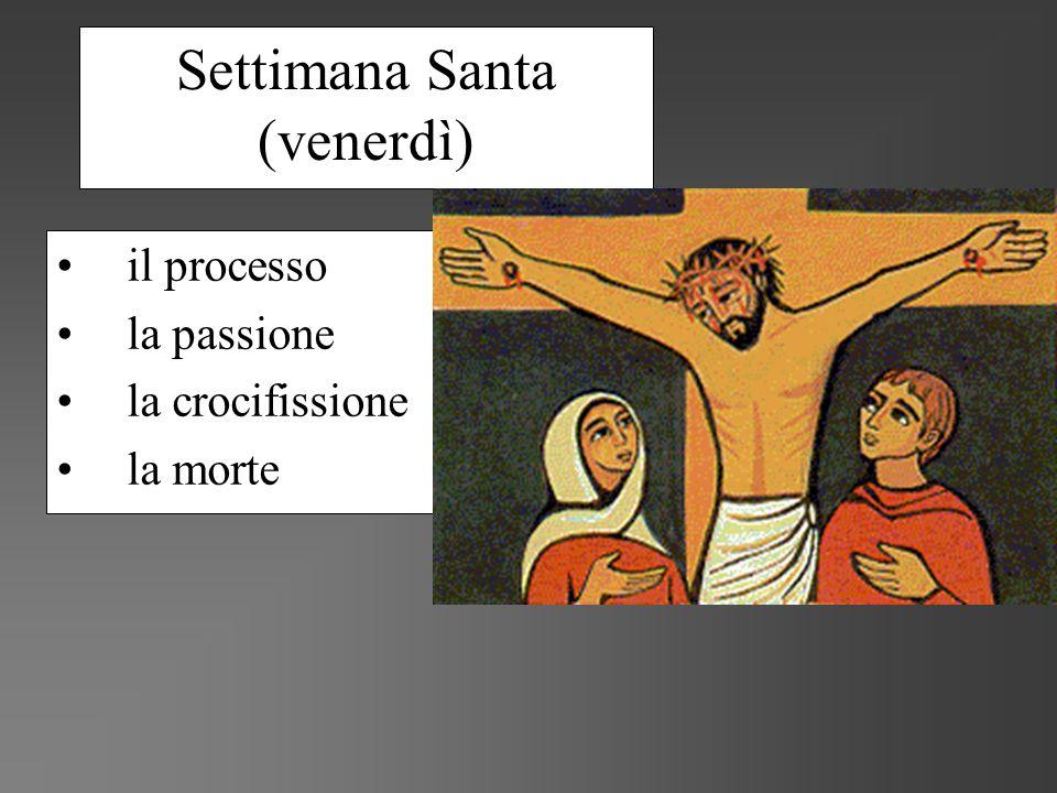 Settimana Santa (venerdì) il processo la passione la crocifissione la morte